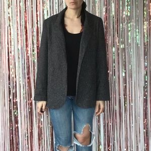 Urban Outfitters Gray Speckled Open Blazer - L